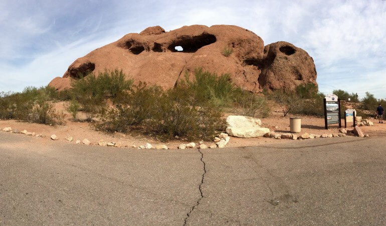 Hole in the Rock at Papago