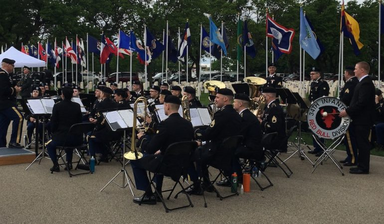 Fort Snelling National Cemetery Memorial Day Service 2017