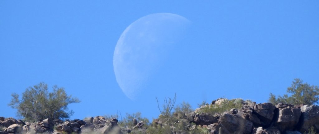 Moon at White Tank Mountains