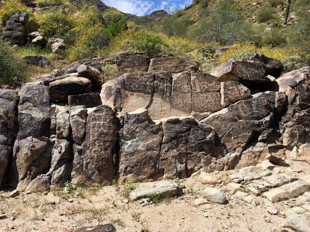 Petroglyphs at White Tank Mountains